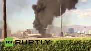USA: Plane erupts in flames at Las Vegas airport