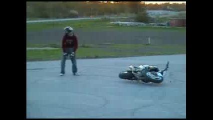 Extreme moto stunt