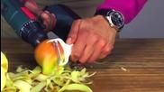Най-бързия начин за белене на ябълки