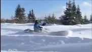 Вижте един уникален снегоход! Това чудо може всичко!