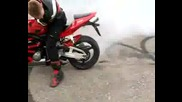 Palenie Gumy Honda Cbr 600rr Палене На Гуми