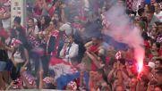 Croatia: Zagreb celebrates Croatia's second goal in WC final