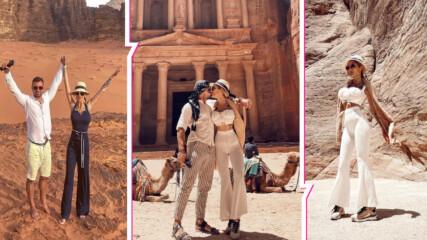Пролетни страсти в Йордания: Джулиана Гани и Илиян с разкошно пътешествие до далечна дестинация