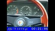 Alfa 75 - 3,0 v6  0- 200km/h - Amazing  engine