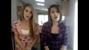 Две момичета пеят пред камера невероятно