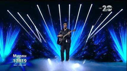 Мирян Костадинов - X Factor Live (02.12.2014)