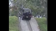 Mercedes Gelandewagen Taking A Steep Hill