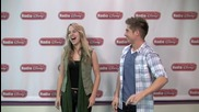 Bridgit Mendler learns the Exterminate rap with Jake, Eliott Candice