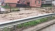 Реки преливат в Пирдоп, обявиха бедствено положение