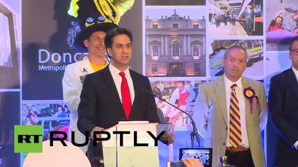 UK: Ed Miliband retains Doncaster North seat but exit polls indicate heavy Labour loss