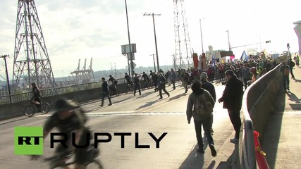 USA: Protesters continue to march against Shell in second day of rally