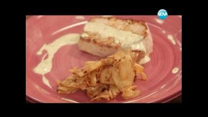 Хляб с кашкавал, крем супа, свинско в сос - Бон апети (08.01.2014г.)