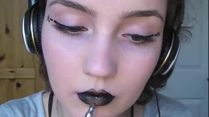 Златисто черни устни