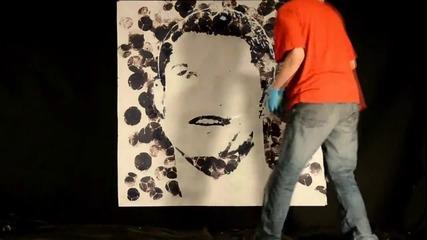 Художник рисува Роналдо с Топка !
