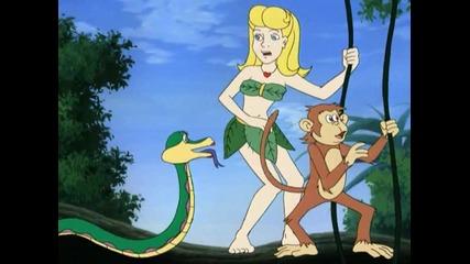 Момичето от Джунглата и изгубеният остров на Динозаврите - Анимационен филм Бг Аудио