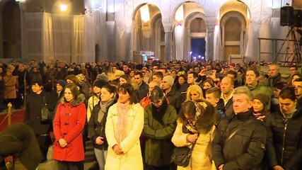 Serbia: Belgrade celebrates Orthodox New Year with fireworks at St. Sava Cathedral