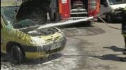 Автомобил се преобърна по таван в центъра на Русе