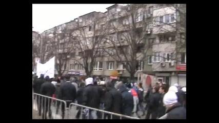 Протест срещу високите сметки за ток - Варна - 17.02.2013 година