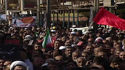 Iran: Mourners bid farewell to victims of military parade attack in Ahvaz