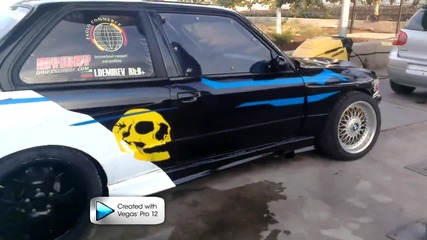 Bmw E30 2.5 Turbo Antilag Drift
