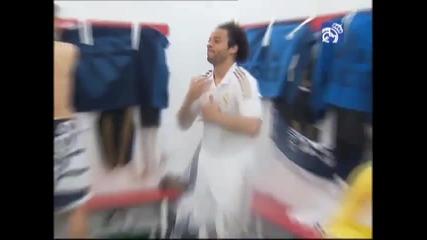 Радоста на играчите от Real Madrid след спечелената титла в Испанската Примиера Девисион