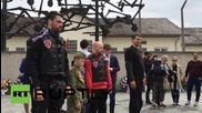 Germany: Night Wolves bikers pay their respects at Dachau concentration camp