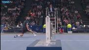 Benoit Paire - Incredible Backspin Volley - Paris 2015 Hot Shot