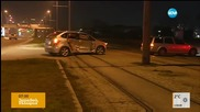Катастрофа между три коли и трамвай в София