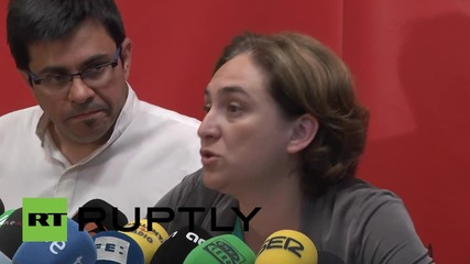 Spain: Barcelona's new activist mayor vows to only work with leftist parties