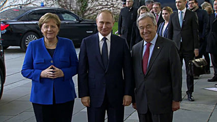 Germany: Merkel and UN's Guterres greet Putin as Libya conference kicks off