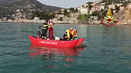 Italy: Landslide pushes hundreds of coffins into sea near Genoa