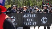 USA: Arrests as counter protesters clash with police during Confederate rally