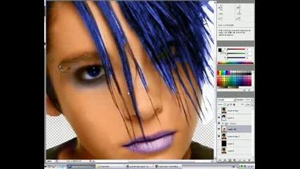 Tokio Hotel(bill Kaulitz)photoshop Makeup