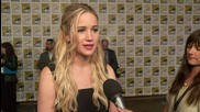 Jennifer Lawrence And The Final Hunger Games At Comic-Con