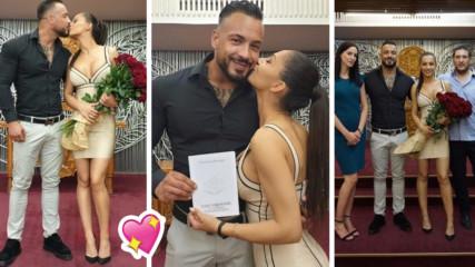 Само във Vbox7: Кристиан Кирилов и Джулия вече са се оженили! Вижте кадри от сватбата