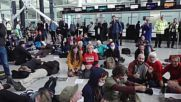 UK: Protesters stage die-in against future expansion plans at Heathrow airport
