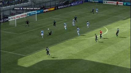Невероятно изпълнение на Серхио Агуеро !!! Fifa 12- Мениджър мод с Челси