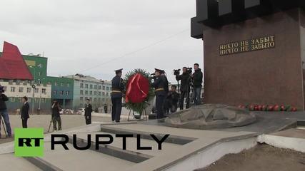 Запалиха вечния огън в Якутск в памет на загиналите през Втората световна война