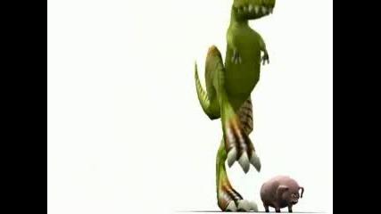 Динозавър И Прасе