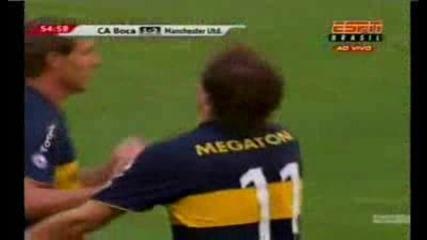 Boca Juniors 1 - 2 Man Utd (insua Goal)