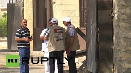 State of Palestine: Palestinian pilgrims cross through Rafah to perform the Hajj