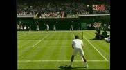 Wimbledon - Federer - Hrbaty - 4:1 Трети Сет!