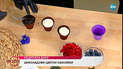 Рецептата днес: Шоколадови цветни саксийки - На кафе (25.06.2019)