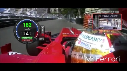F1 Гран при на Монако 2013 - Alonso на Fp1 [hd][onboard]
