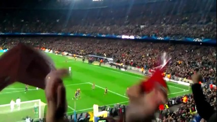 Barcelona vs Milan 4-0, 12.03.2013. Goal of David Villa.