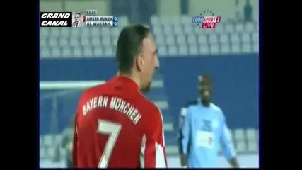 Вижте как Frank Riberi сe справя с нахален защитник