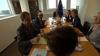 Belgium: Scotland's Sturgeon meets EP's Martin Schulz to talk Brexit fallout