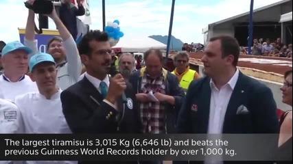 Най-голямото тирамису в света - Рекордите на Гинес