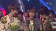 [120401] Shinee - Sherlock @ Inkigayo + печелят!!