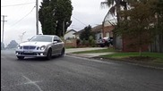 Mercedes E55 Amg Burnout